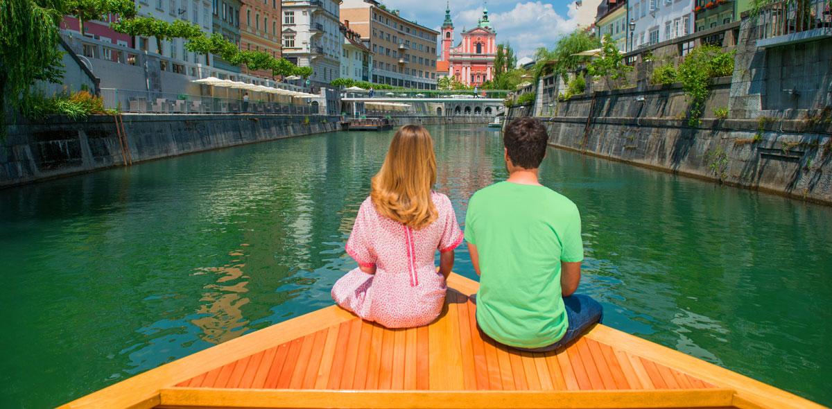 Bootsfahrt Ljubljana