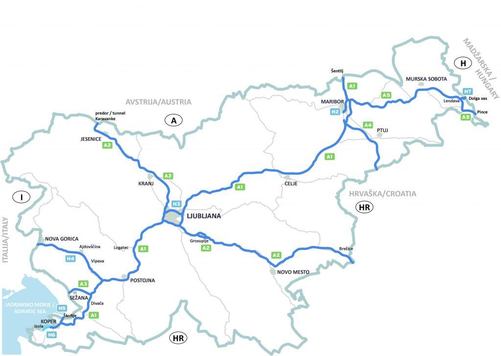 Straßen mit Maut in Slowenien