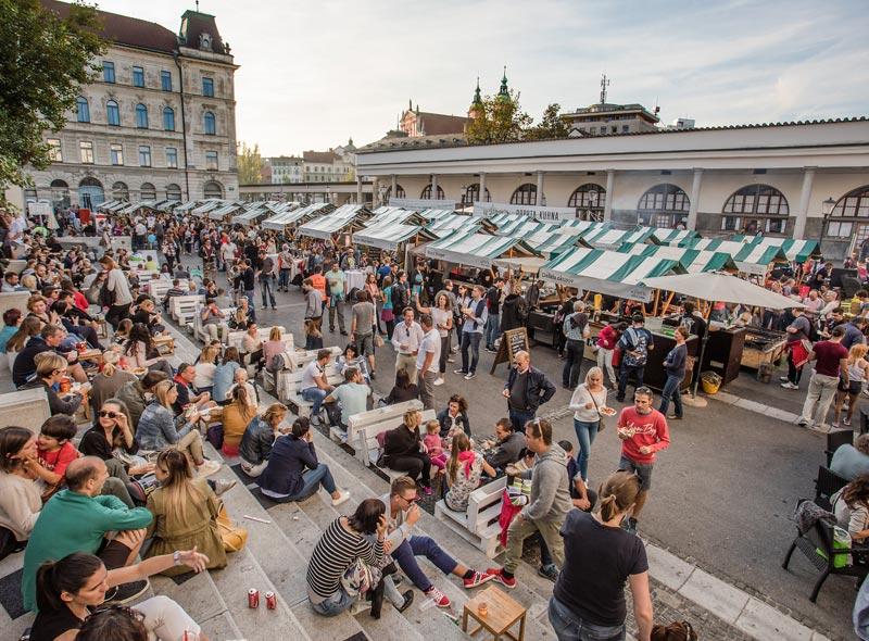 offene Küche in Ljubljana